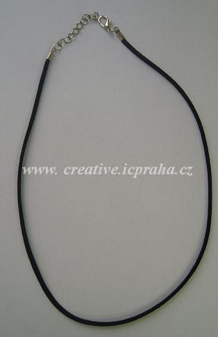 007c99329ba Komplet kůže imitace plochá + karabina - černá