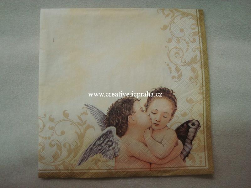 andílci na zlaté - polibek MAKI