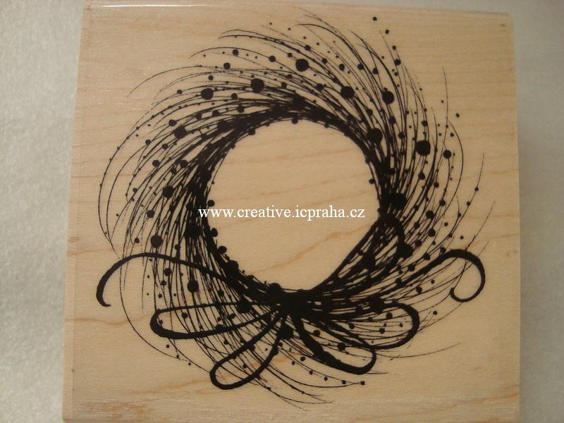 raz. dřevěné Penny Black - Věneček z trávy