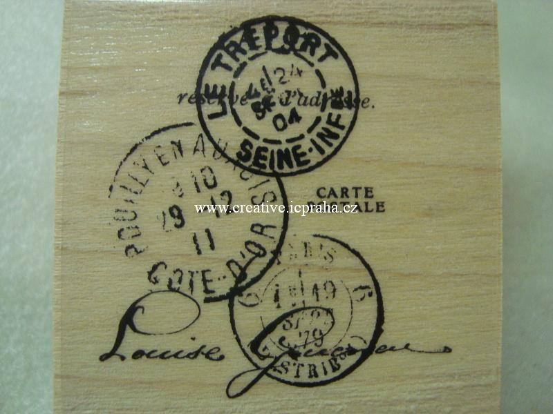 raz. dřevěné MR - Poštovní razítka 4x4,5cm