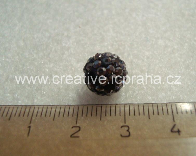 kulička se šatony 10mm - hematit BE