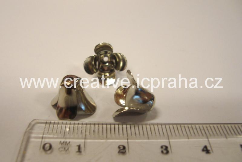 Kaplík 9mm platina - zvonek hladký
