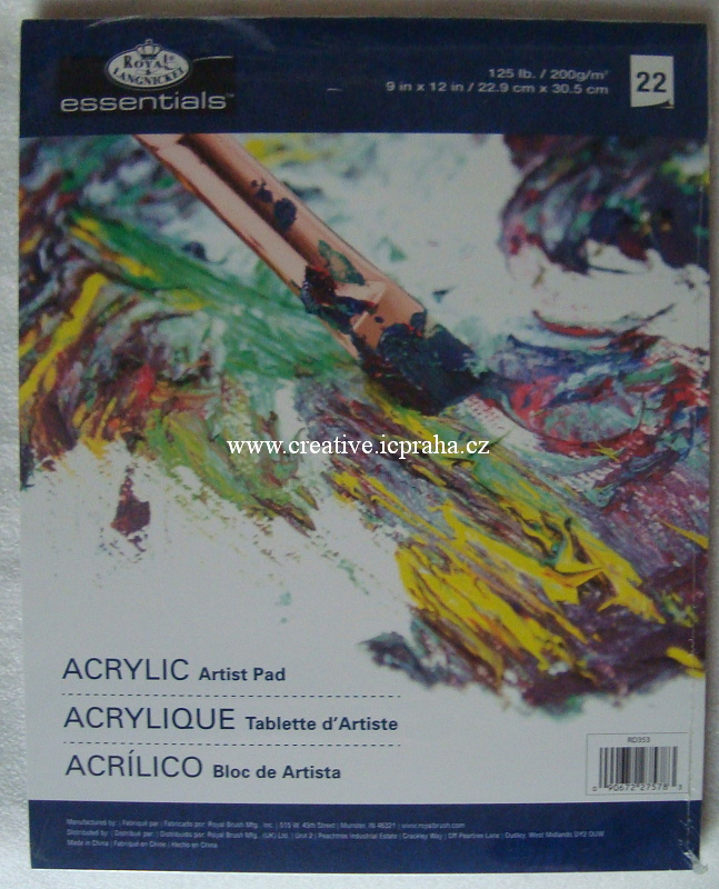 papír A4 na akryl a akvarel 250g/m2