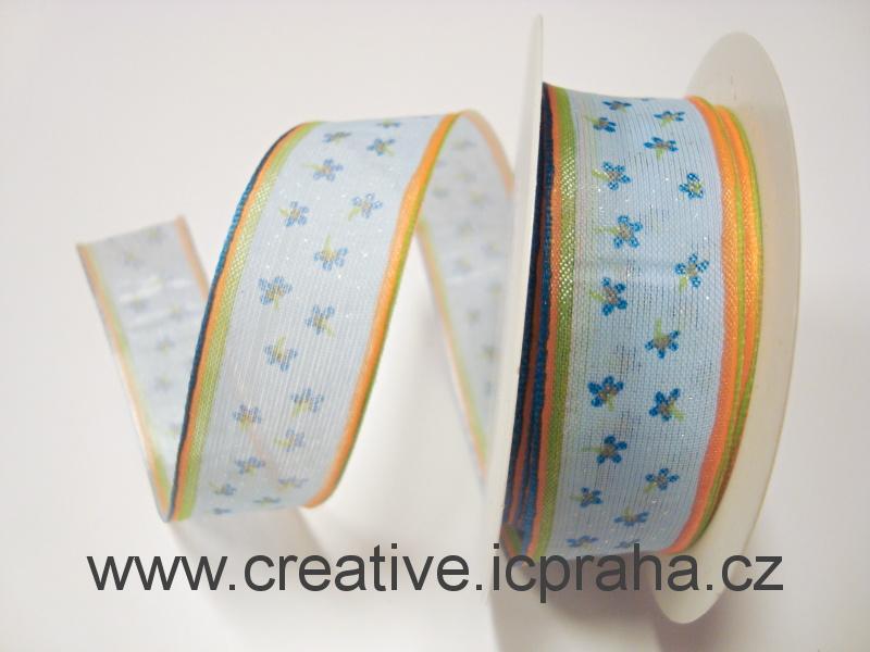 stuha-drátek-modrá -
