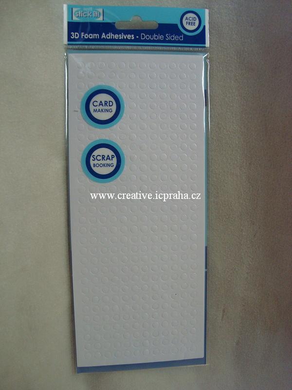 Čtverečky lepítka - 10x13mm 500ks Bílé