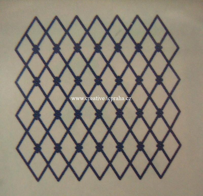 vyřezávací šablona  YCD - Mřížka 10015