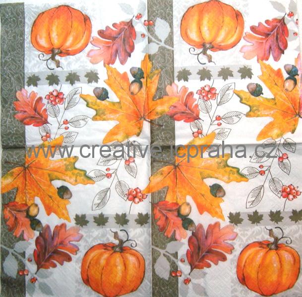 podzimní listy a dýně ATELIER