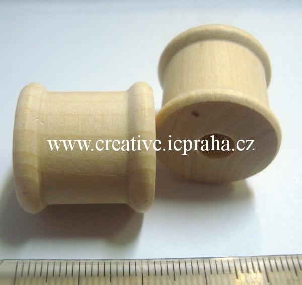 dřevěná cívka 22x24mm