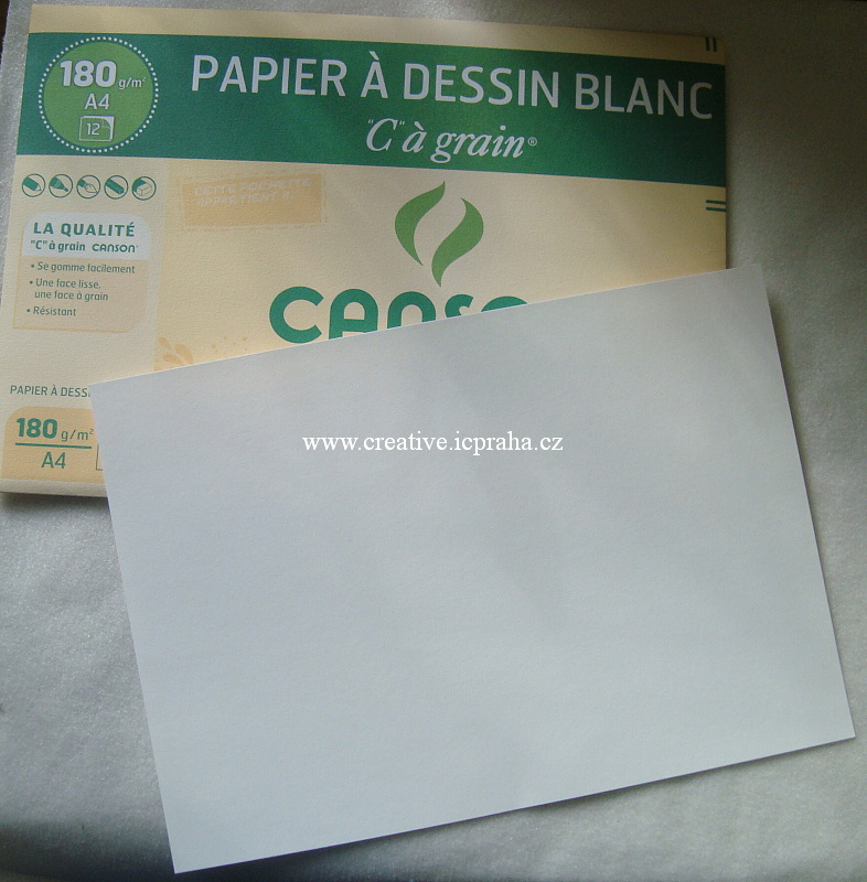 sada papírů na suché/mokré technik 12 ksA4 180g/m2