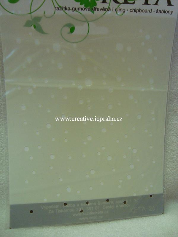 šablona plast STP A4 - Pampelišky KSG346