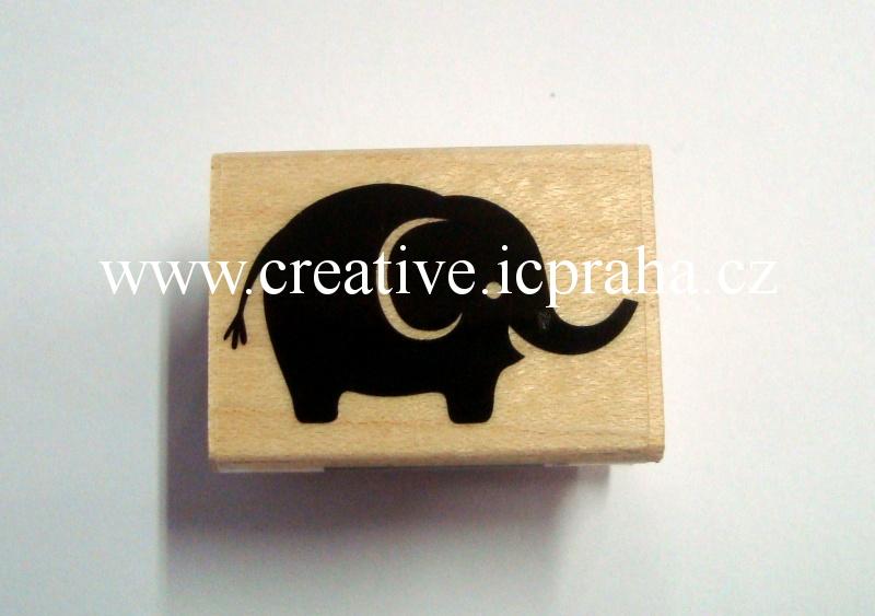 raz. dřevěné Hero Arts - Slon 3,5x2,2cm SLEVA