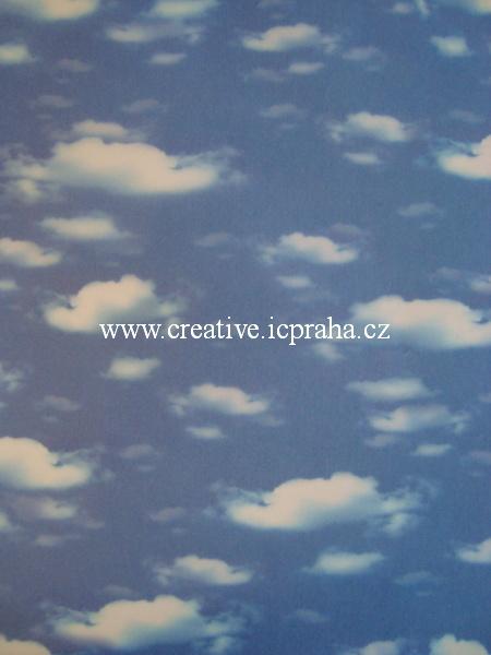 transp.papír 23x33cm - obláčky/SLEVA