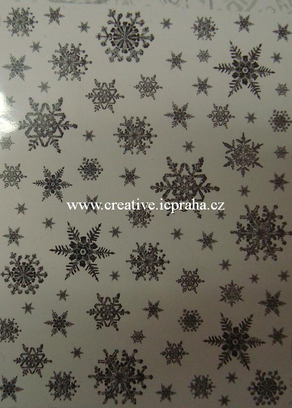gum.razítko - Vločky Background - 7x9,5cm CI241