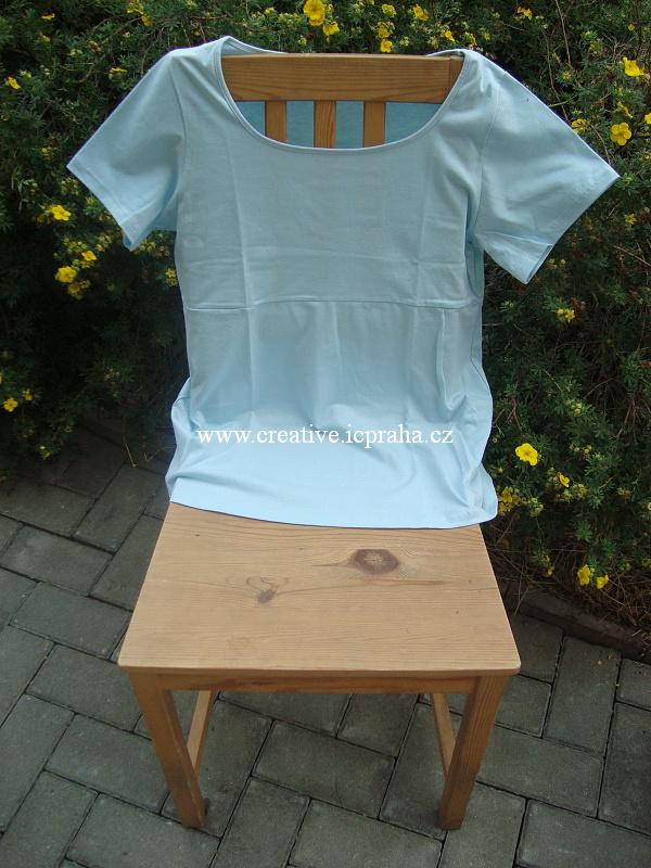 bavlněná tunika kr.r. L - modrá