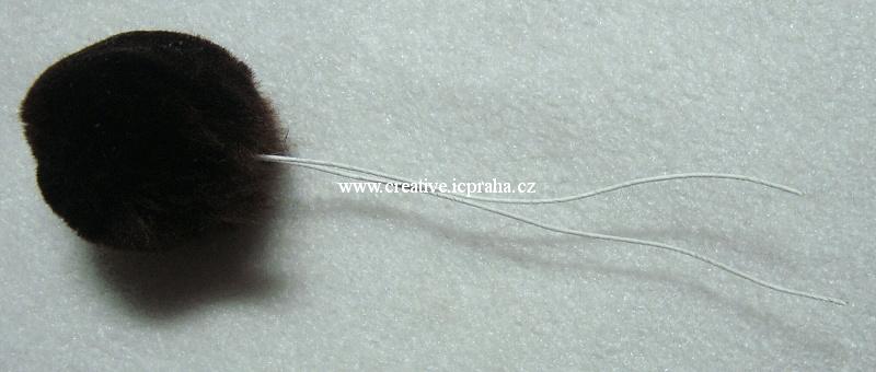ballé - bambulka na drátku 30mm - černá