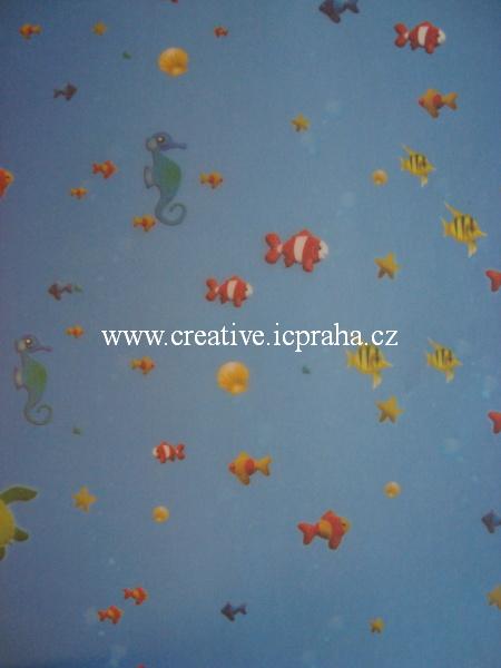 transp.papír 23x33cm - ryby  84401