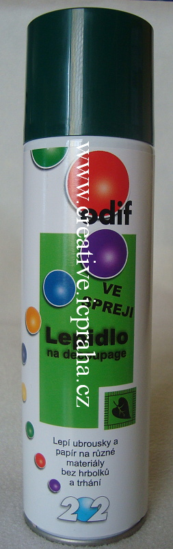 lepidlo ve spreji na decoupage 250 ml