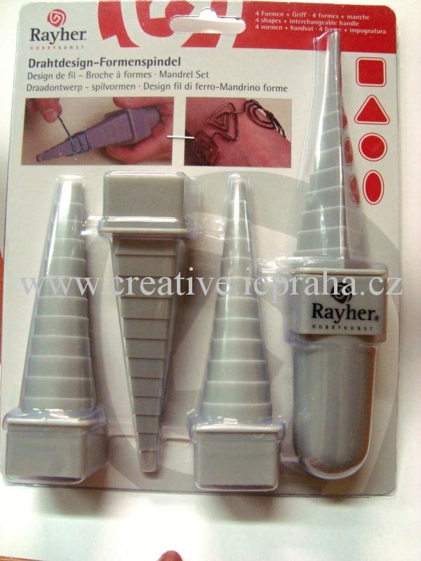 tvořítka plastová pro quilling a drátování - 4typy
