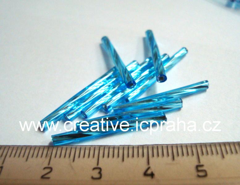 čípky 25mm modré sv. kroucené cca10g