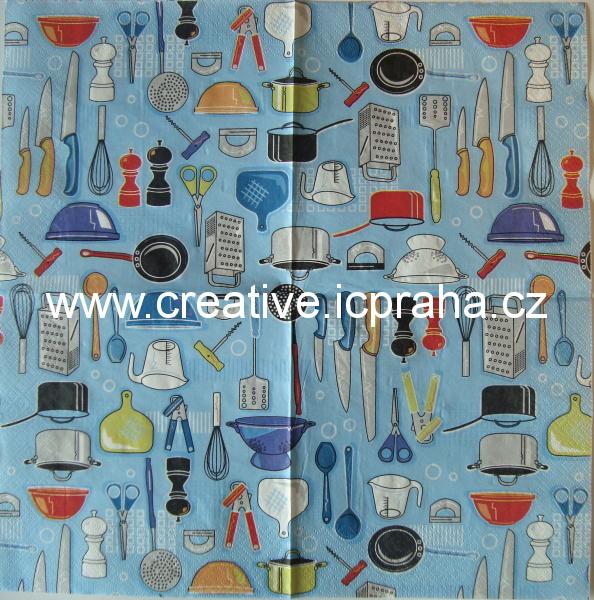 kuchyňské náčiní na modrém VIVA
