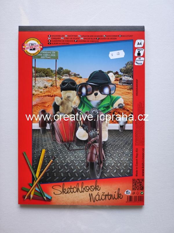 DR blok skicovací Multicolour 120g/m2 A4 21ks
