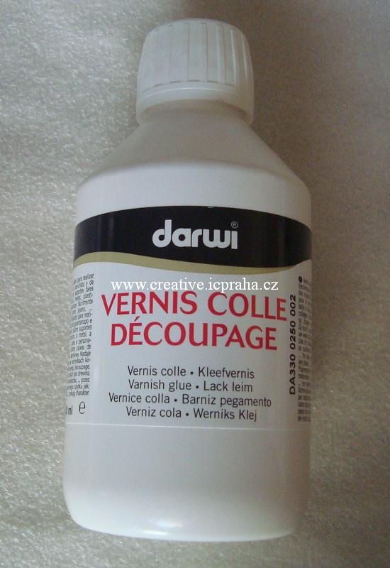 DARWI lepidlo + lak na decoupage 250ml