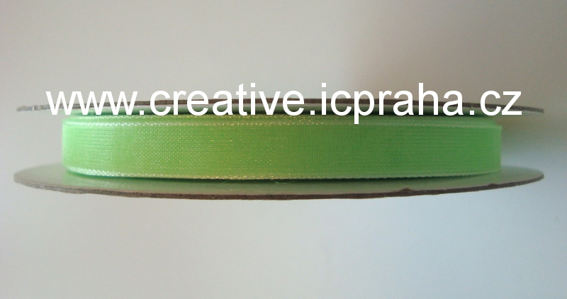 Stuha chiffon zelená neon