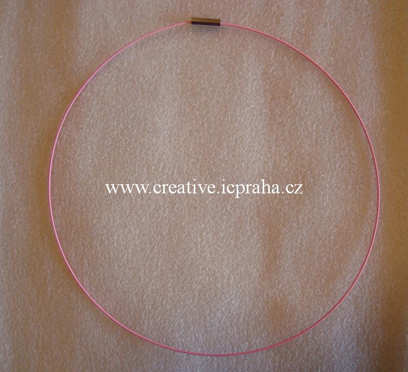 Obojek komplet - růžová pastel - magn. zap. BE