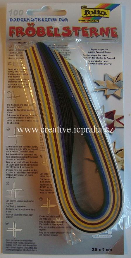 papírové proužky 1x35cm bal.100ks  1296