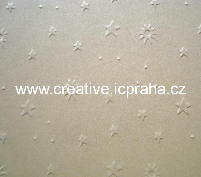 ražený papír 220g/m2 23x33cm - hvězdičky 6052309