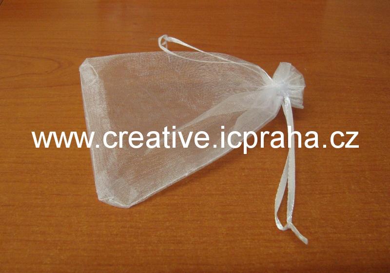 sáček - organza 10x15cm bílý