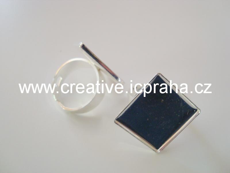 lůžko prsten nastavitelný čtverec 21x21mm KA-56/01