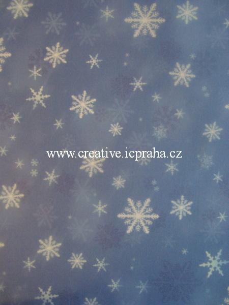 transp.papír 23x33cm - sněhové vločky 83405/SLEVA