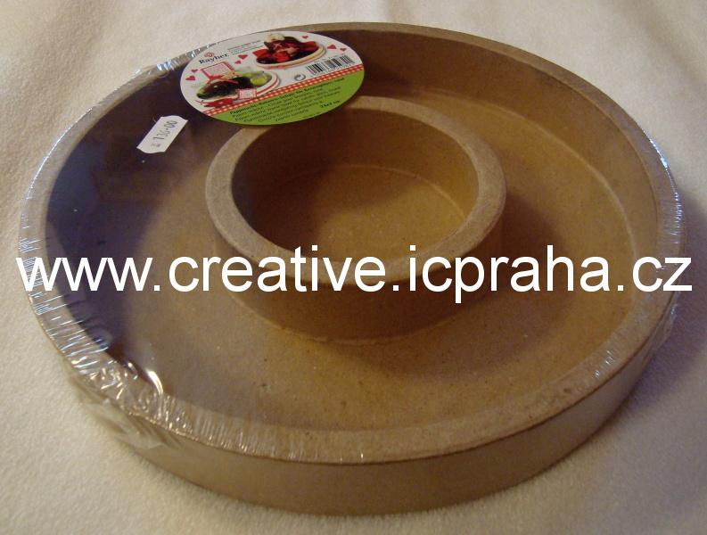 svícen karton dvojitý kruh 24cm 71-601-00