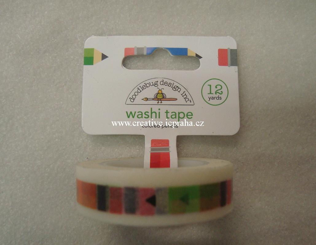 Washi páska - tužky 1,5cmx10m 4555 DD