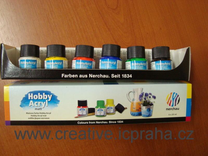 Hobby Acryl matt 20ml - sada 6barev 1834