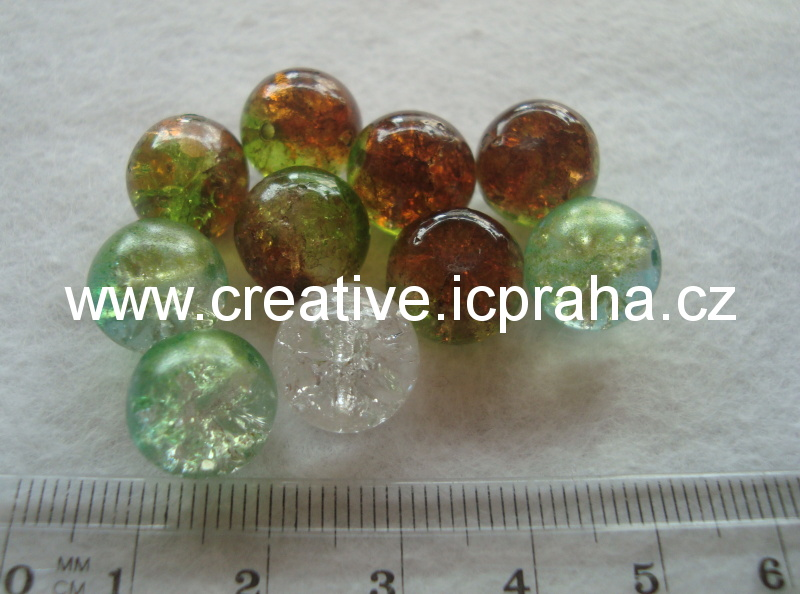 praskačky - kuličky 10mm zelenohnědé 10ks