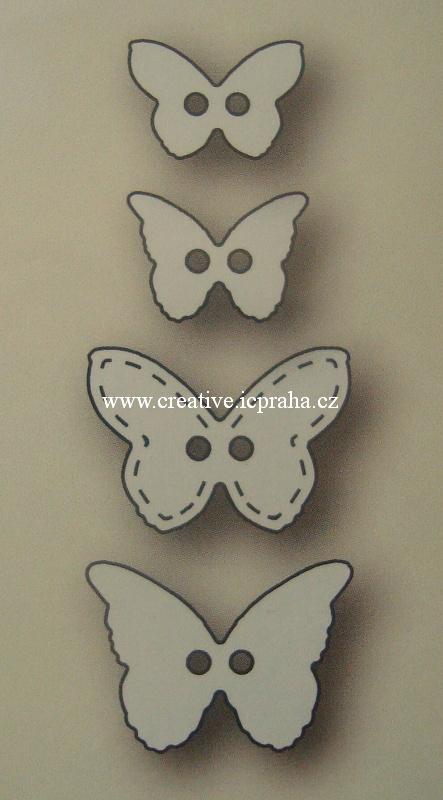vyřezávací šablona  Poppy - Knoflíky motýlci 4ks