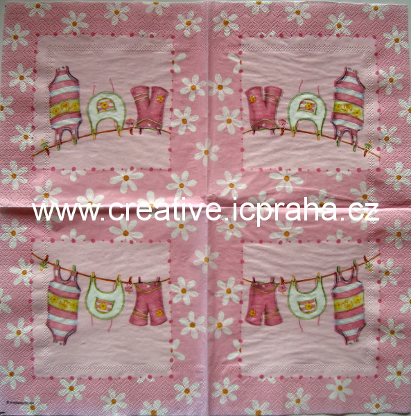 d-dětské prádlo v růžové AMB 4965