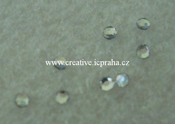 nažehlovací kamínky čiré 2mm bal. 50ks