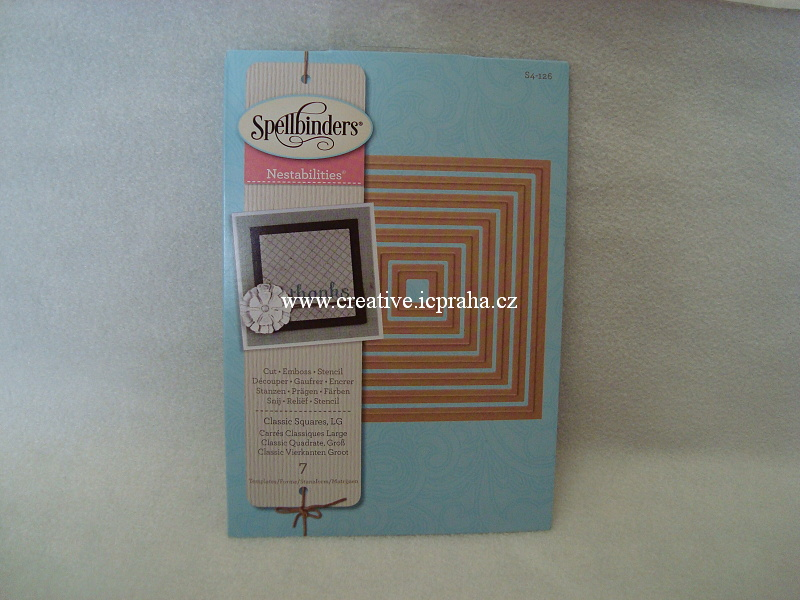 vyřezávací šablona  Spellbinders - Čtverce 7ks