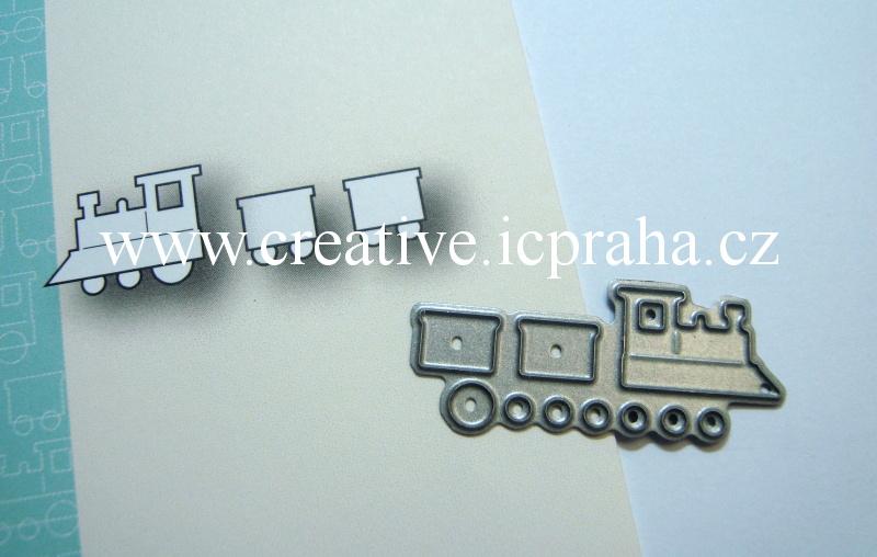vyřezávací šablona  Memory Box - Vláček 98710