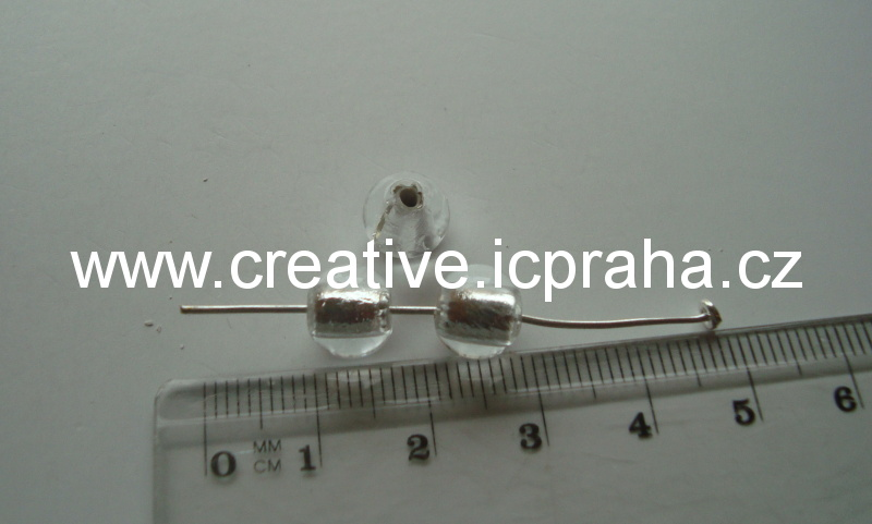 kulička čirá/stříbro 19016 prům. 8mm