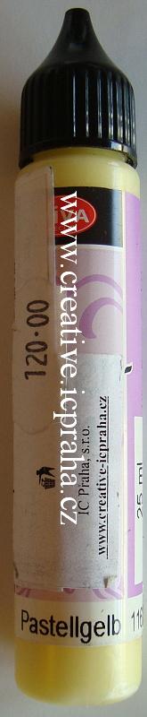 Tekuté perly 25ml - žlutá pastelová 16205
