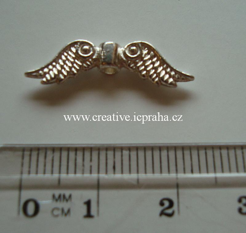 křídla - anděl 23x7mm starostříbro