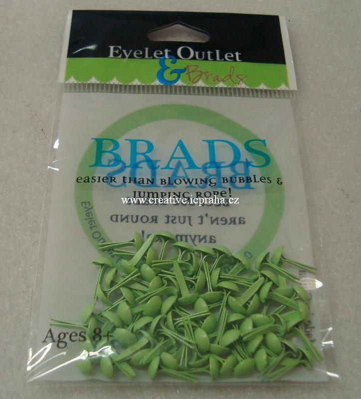 hřebíčky kul. zelené pastel - 70ks 4mm