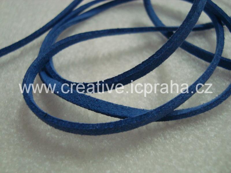 Kůže imitace cca 90cm - modrá