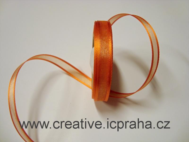 Stuha monofil 10mm oranžová 030626