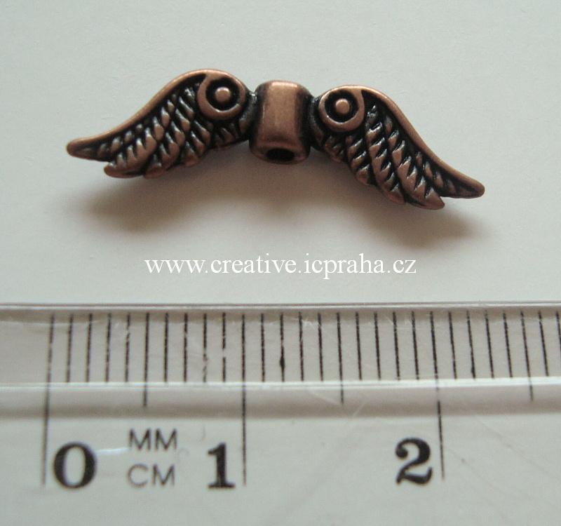 křídla - anděl 24x8mm měděná