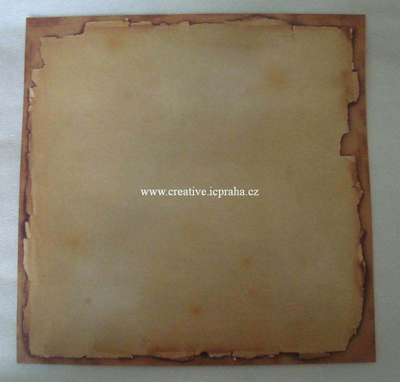 papír Arch starého papíru 30,5x30.5cm - jednostr.